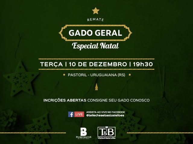 REMATE GADO GERAL - ESPECIAL NATAL