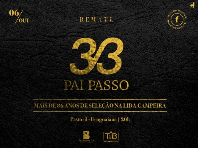 Remate 33 Pai Passo